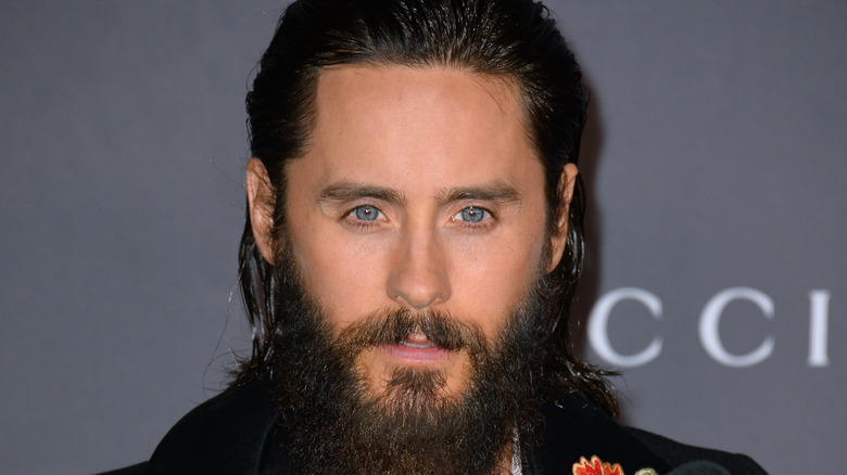 Jared Leto with slicked back hair