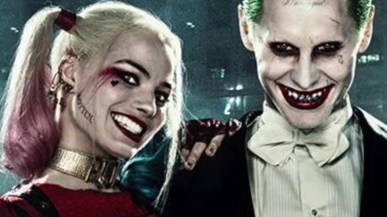 Margot Robbie as Harley Quinn and Jared Leto as the Joker