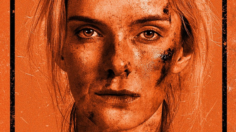 The Hunt bloody face Betty Gilpin