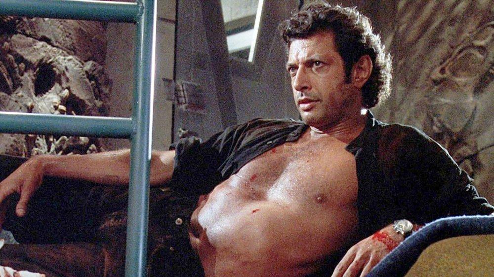 Jeff Goldblum shirtless in Jurassic Park