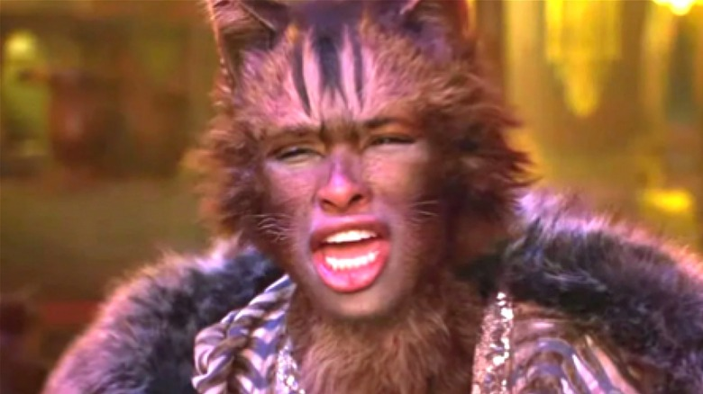 Hudson as Grizabella in Cats