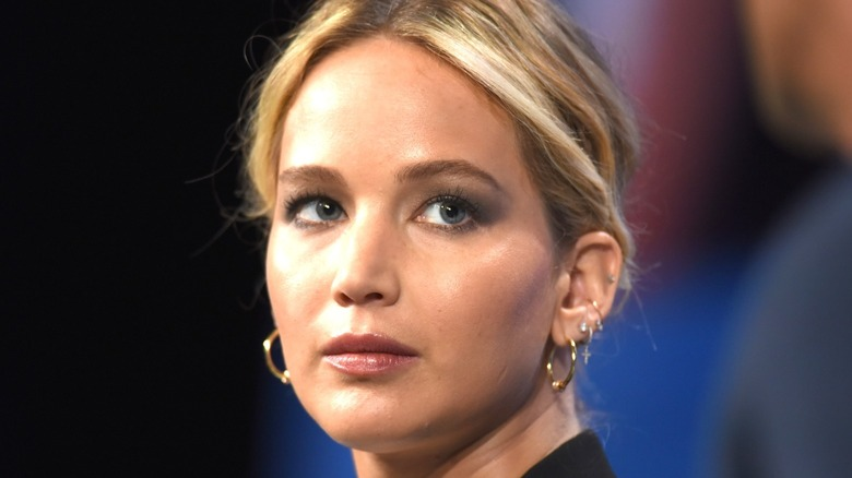 Jennifer Lawrence appears at event