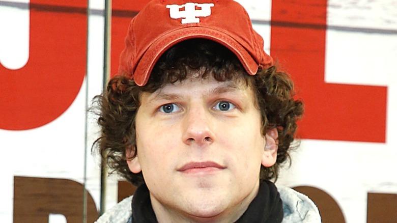 Jesse Eisenberg wearing hat