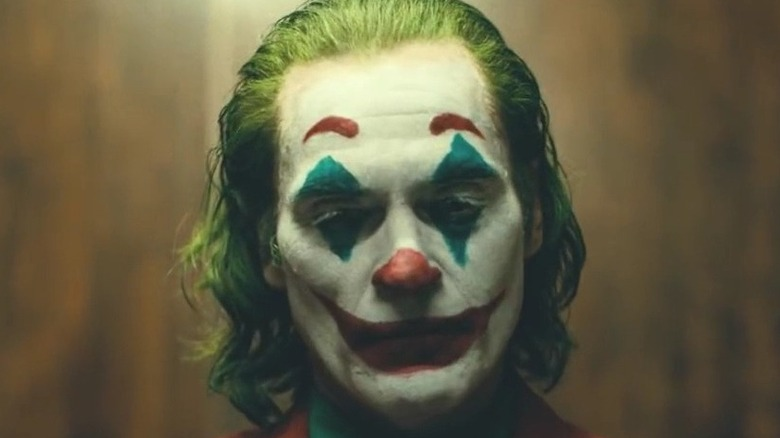 Joker looking down