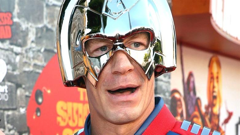 John Cena as the Peacemaker The Suicide Squad premiere