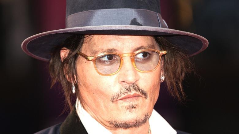Johnny Depp in glasses