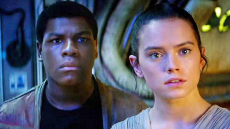 Jon Boyega Daisy Ridley Finn Rey Star Wars The Force Awakens