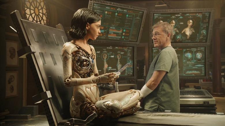 Christoph Waltz and Rosa Salazar star in Alita: Battle Angel