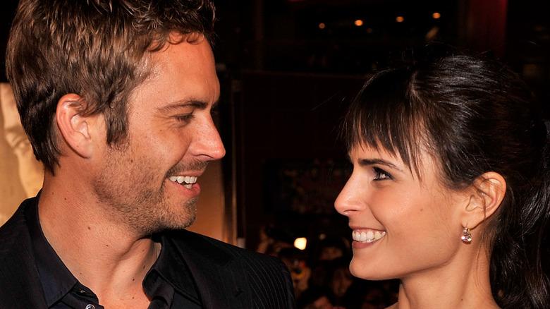 Paul Walker and Jordana Brewster smiling