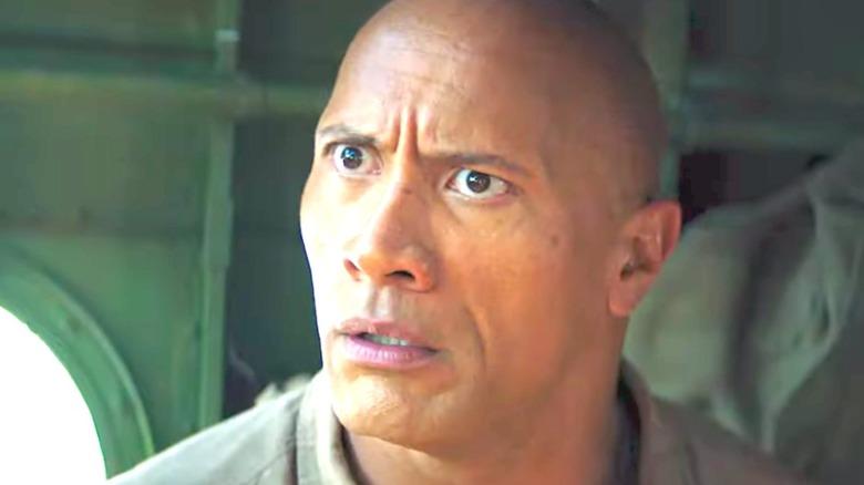 Dwayne Johnson looking shocked