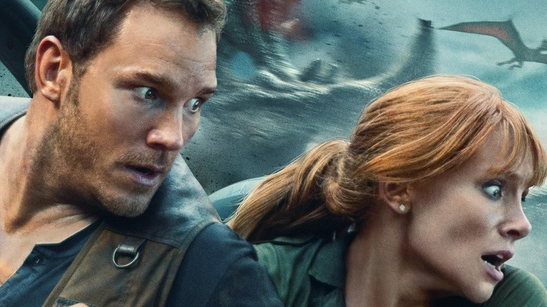 Jurassic World: Fallen Kingdom poster art