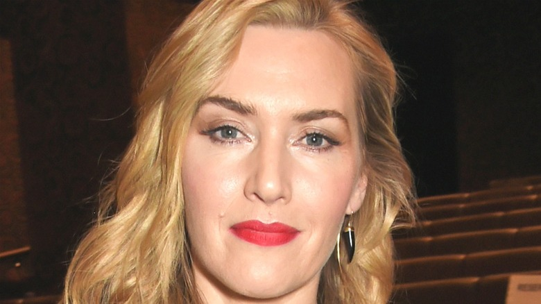 Kate Winslet staring straight ahead