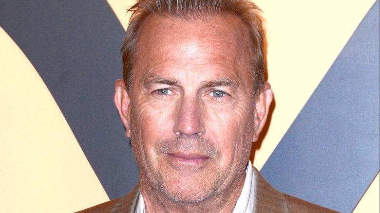 Kevin Costner slightly smiling