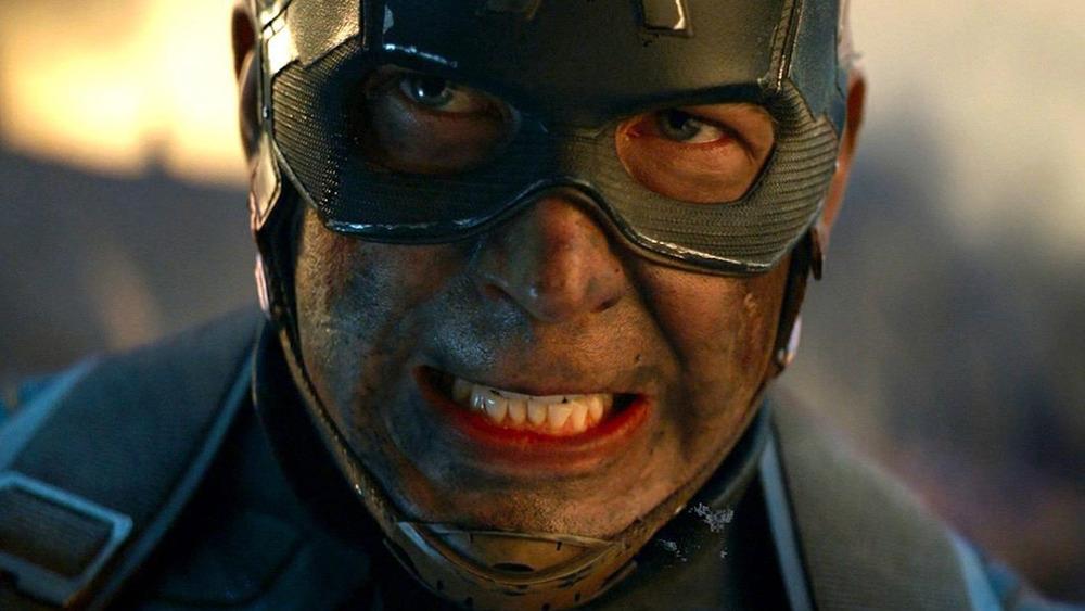 Chris Evans Captain America gritting teeth