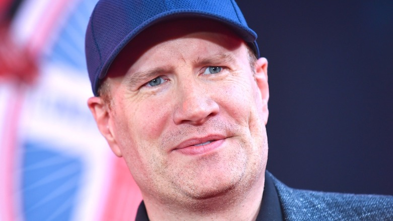 Kevin Feige looking at camera