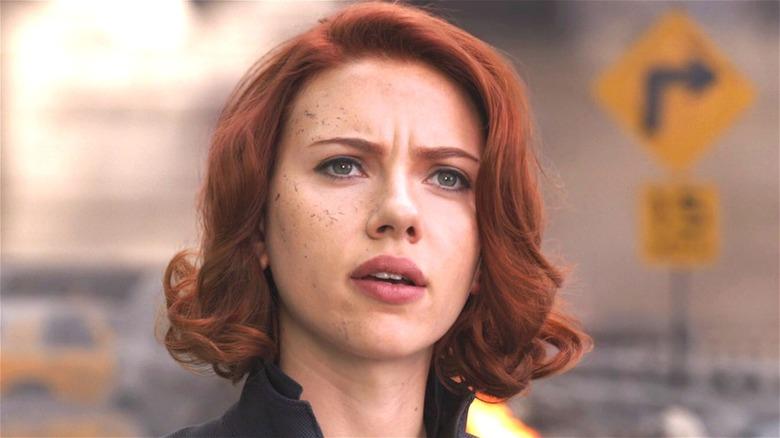 Natasha Romanoff looking on