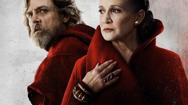 Luke and Leia from promo art for Star Wars, Episode VII: The Last Jedi