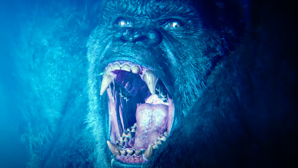 King Kong roaring in Godzilla vs. Kong trailer