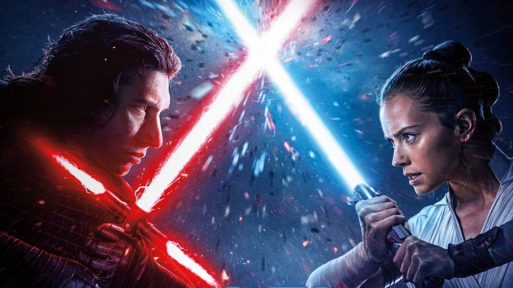 Rey and Kylo Ren The Rise of Skywalker international poster