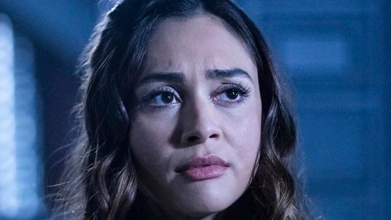 Lindsey Morgan Raven sad