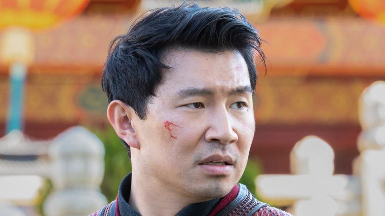 "Simu Liu face cut in ""Shang-Chi and the Legend of the Ten Rings"""