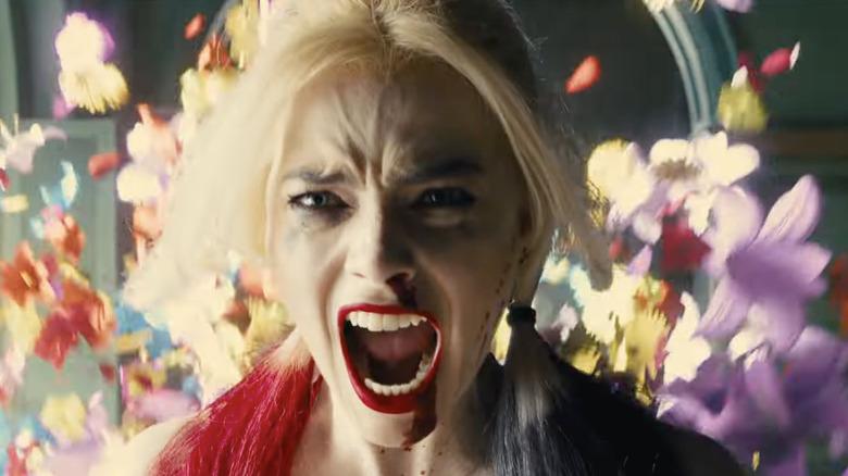 Harley Quinn screaming