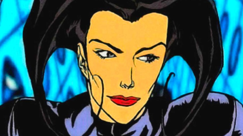 Aeon Flux looking to her side