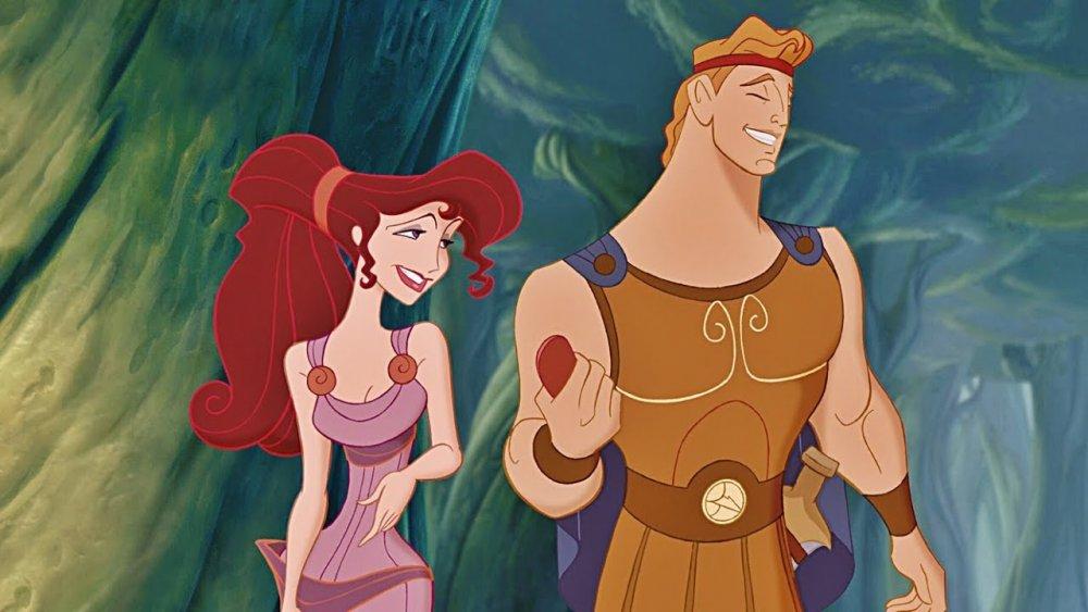 Hercules and Meg in Disney's 1997 adaptation of Hercules.