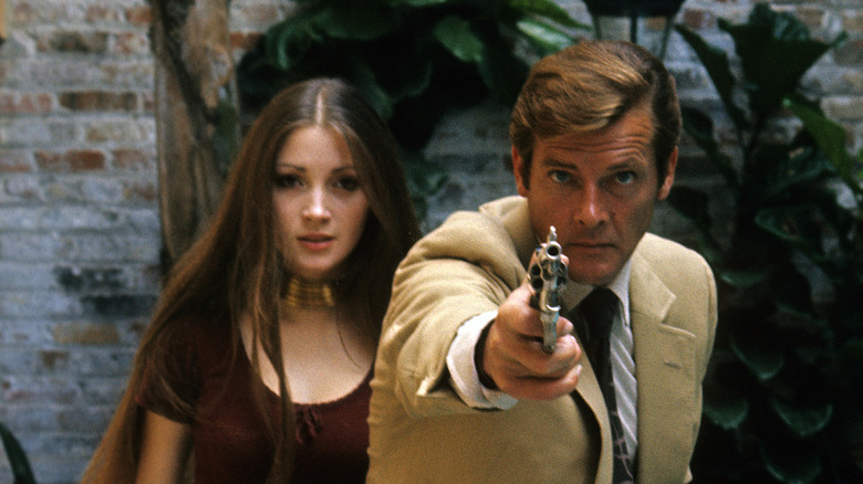 Jane Seymour and Roger Moore in Live and Let Die