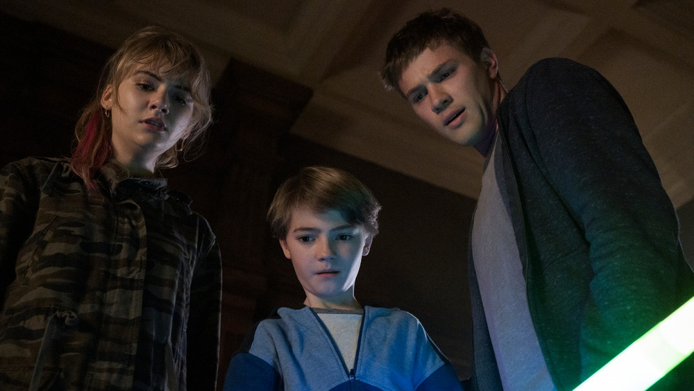 The Locke family in trouble