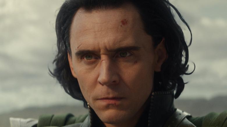 Loki looking serious