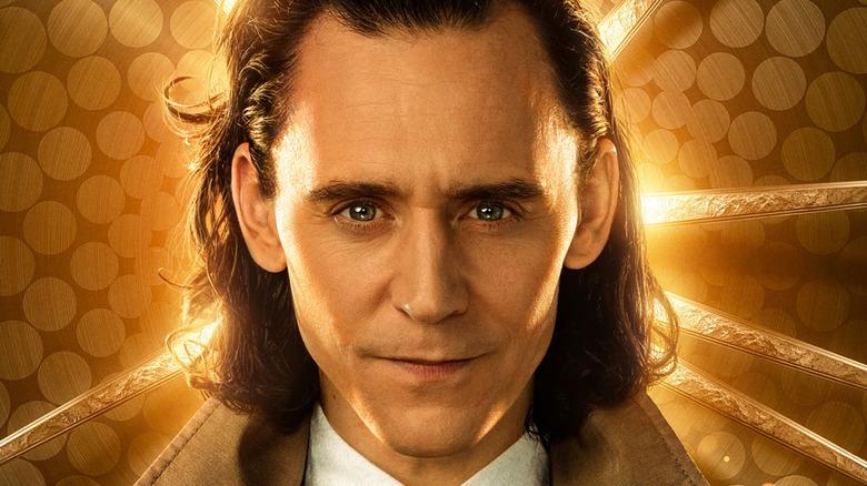 Loki with golden background
