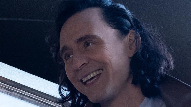 Tom Hiddleston Loki smiling TVA jacket