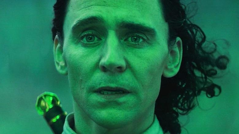 Loki astonished green light