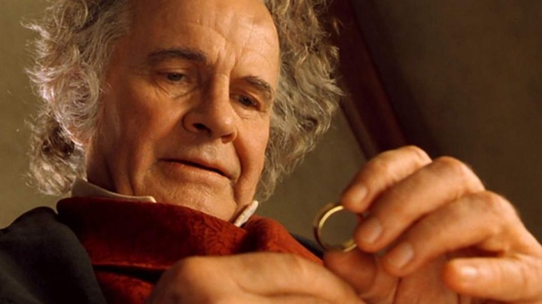 Sir Ian Holm as Bilbo Baggins in The Lord of the Rings