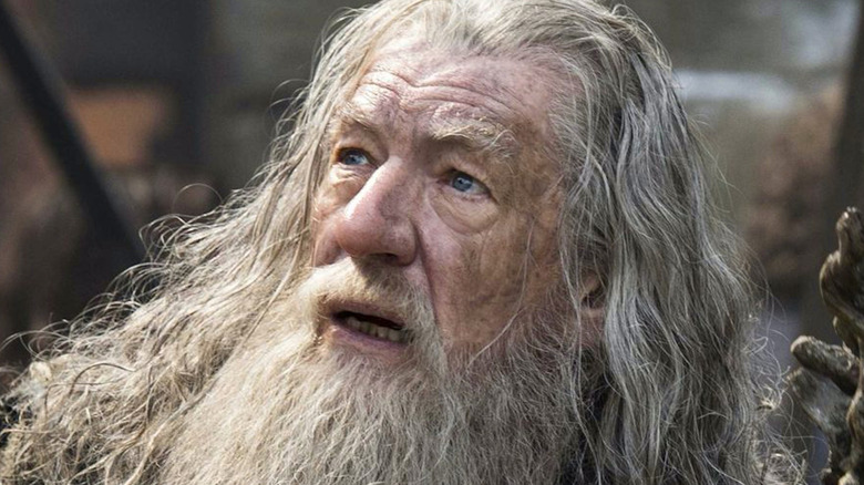 Gandalf the Gray looking up