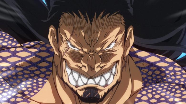 Lu Bu with a vicious grin