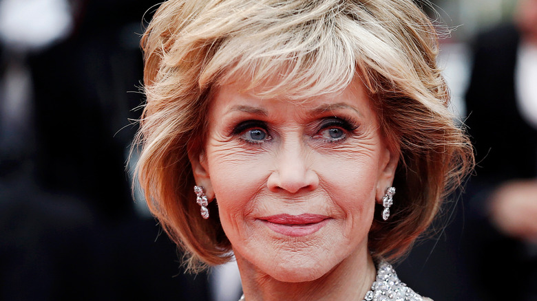 Jane Fonda walking the red carpet
