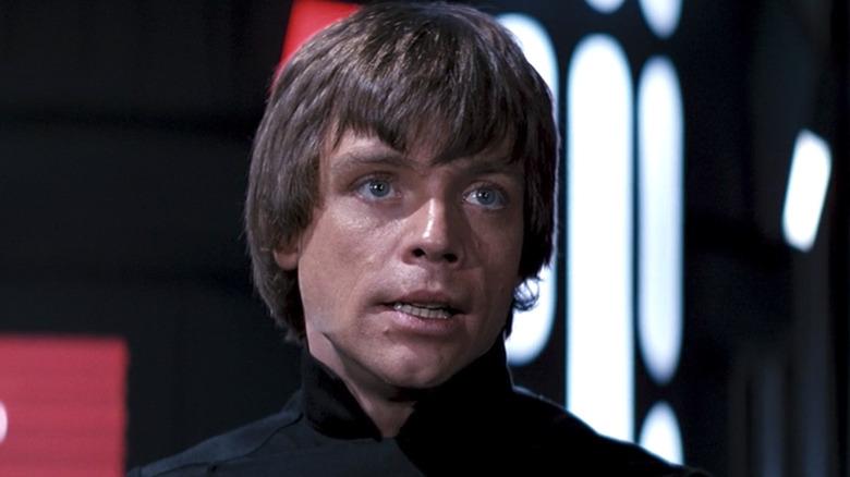 Luke Skywalker in black shirt in Empire Strikes Back