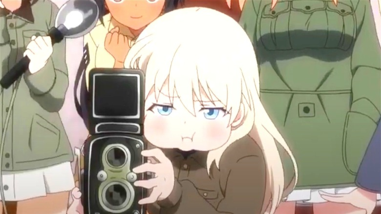 Lyudmila taking picture