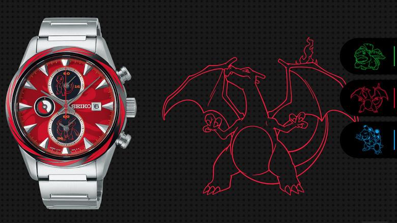 Seiko Pokemon Charizard Lizardon Watch