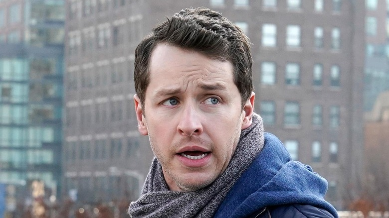 Ben turned around with a scarf