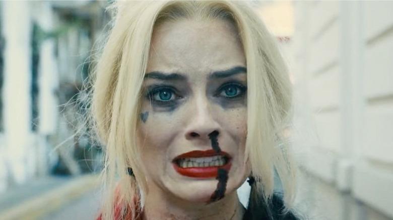Harley Quinn grimacing