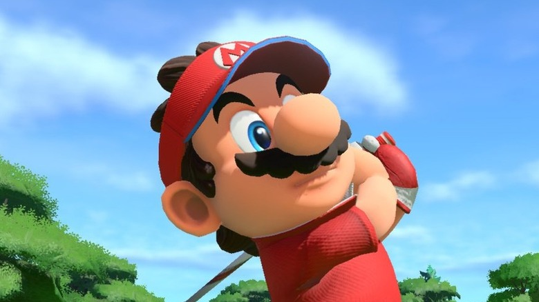 Mario swinging club