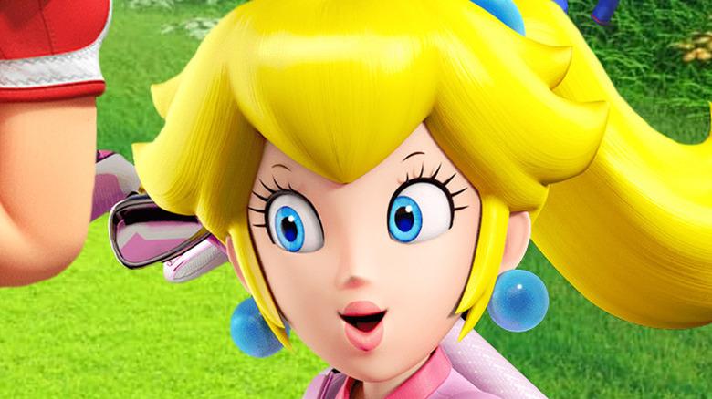 Mario Golf Super Rush Peach face