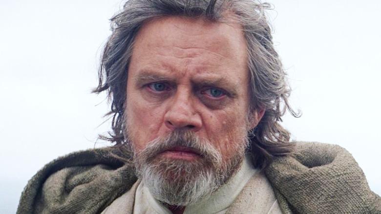 Luke Skywalker glowering