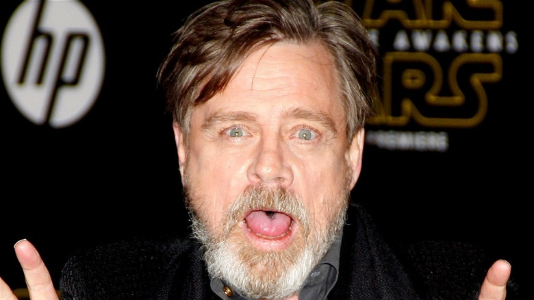 Mark Hamill sticking tongue out
