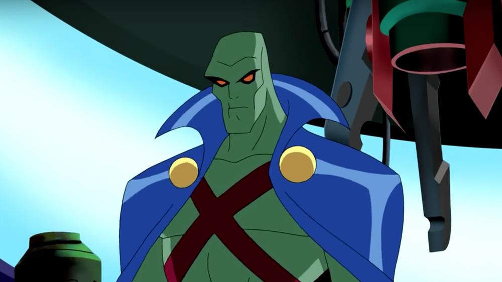 Animated Martian Manhunter in cape
