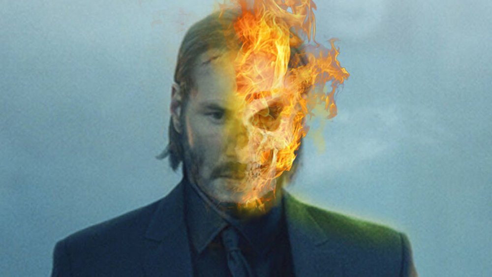 Keanu Reeves as Ghost Rider fan art