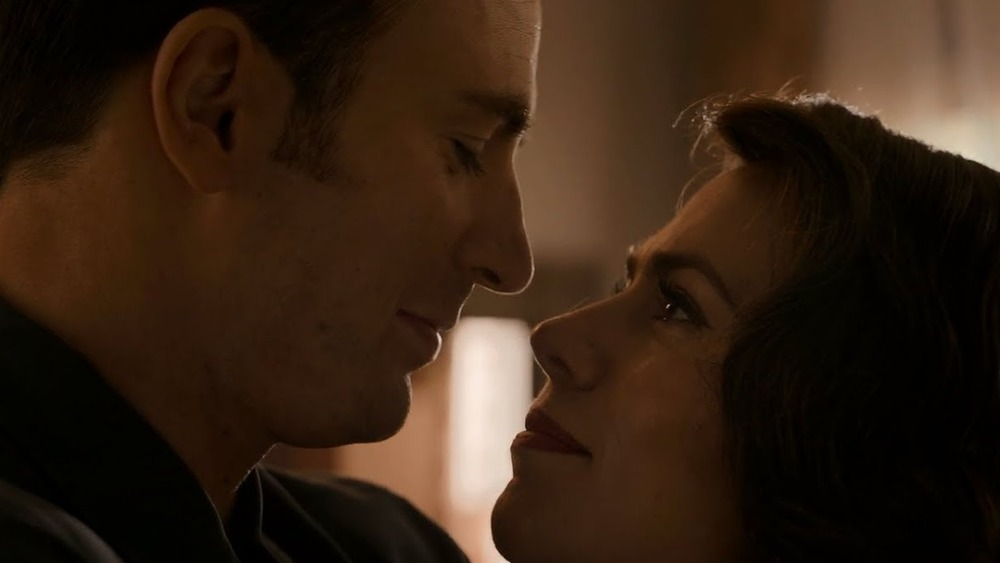The moment before Cap kisses Peggy